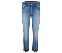 Damen Jeans Comfort Straight, blue