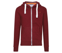 Herren Sweatshirtjacke Orange Label Ziphood, Rot