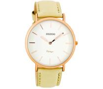 OOZOO: Damen Uhr Ultra Slim Vintage C7734, sand