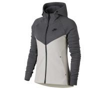 Damen Sweatjacke mit Kapuze Tech Fleece Windrunner, Grau