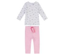 Mädchen Baby-Schlafanzug, hellgrau