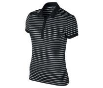 Damen Poloshirt Victory Stripe Kurzarm, Grau