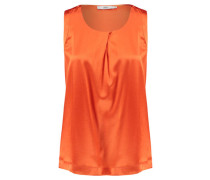Damen Bluse Ärmellos, orange