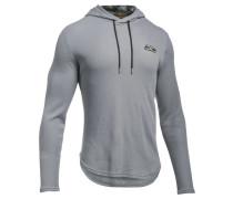 Herren Sweatshirt UA Stephen Curry SC30 Thermal Hood Langarm, Grau