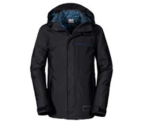 Jack Wolfskin: Boys Winterjacke Travis 3-in-1, schwarz