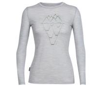 Damen Shirt langarm Tech Lite Long Sleeve Crewe, Grau