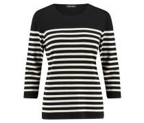 Damen Pullover Dreiviertelarm, schwarz