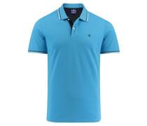 Herren Poloshirt, aqua