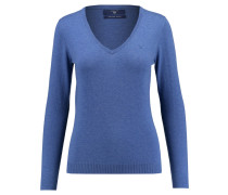 Damen Pullover Cotton Wool V-Neck