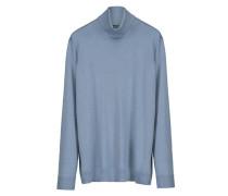 Damen Rollkragenpullover - Plus Size, Blau