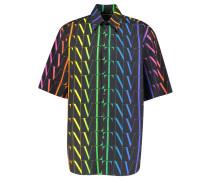 "Hemd ""Allover Rainbow VLTN Shirt"" Kurzarm"