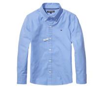 Jungen Baby-Hemd Solid Oxford Langarm, Blau