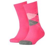 Mädchen und Jungen Socken Doppelpack, pink