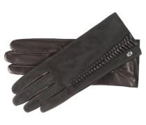 Damen Lederhandschuhe, Schwarz