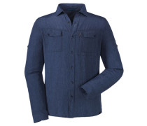 Herren Outdoorhemd / Wanderhemd Paso Tonale UV, Blau
