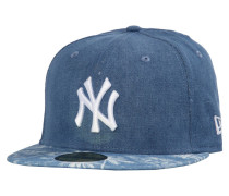 Herren Fitted Cap 59FIFTY Denim Palm Tree New York Yankees