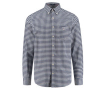 "Herren Freizeithemd ""The Oxford Gingham"" Regular Fit Langarm, blau"
