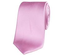 Herren Krawatte aus Seide 7,5 cm breit, rose
