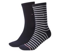 Damen Socken Stripe Zweierpack, Blau