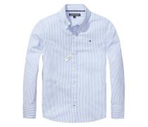 Jungen Baby-Hemd Park Stripe Custom Fit Langarm, Mehrfarbig