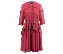 Damen Blusenkleid, Rot