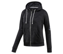 Damen Sweatjacke Elements Marble Full Zip Hoodie, Schwarz