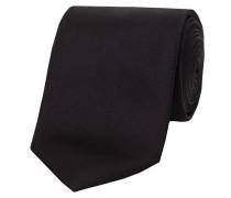 Herren Krawatte aus Seide, schwarz