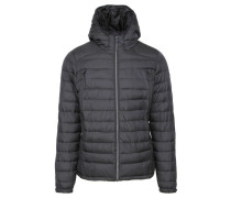 "Herren Steppjacke mit Kapuze ""Short Hooded and Quilted Jacket"", schwarz"