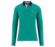 Herren Poloshirt Langarm, smaragd