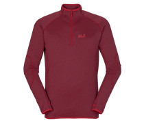 Herren Fleecepullover Sutherland Shirt Men, Rot
