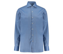 "Herren Hemd ""Simone L"" Langarm, blau"