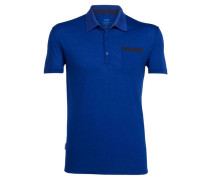 Herren Funktionspolo Quattro II Short Sleeve Polo, Blau