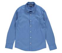 Jungen Hemd Custom Fit Langarm, Blau