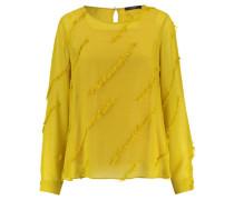 Damen Bluse Langarm, Gelb
