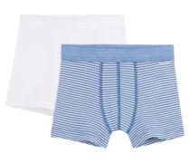 Jungen Shorts Doppelpack, Blau