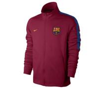 Herren Sweatshirtjacke FC Barcelona, Rot