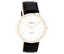 OOZOO: Damen Uhr Ultra Slim Vintage C7761, schwarz