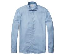 Scotch & Soda: Herren Hemd Langarm, blau