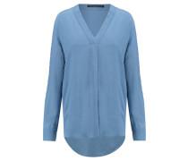Damen Bluse Anina Langarm, Blau