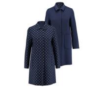Damen Mantel Cleofe zum Wenden, Blau