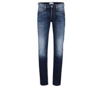 Herren Five-Pocket-Jeans Slim Fit, Blau