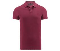 Herren Poloshirt Shaped Fit Kurzarm, Rot