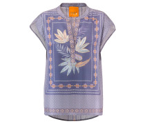 Damen Bluse Oriental Kurzarm, Lila