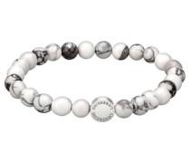 """Damen Armband """"Beads"""", weiss"""