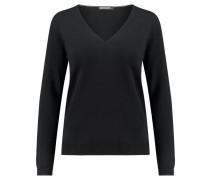 Damen Pullover Langarm, schwarz