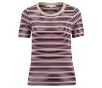 Damen Strick-Shirt Kurzarm, Beige