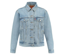 "Damen Jeansjacke ""Exboyfriend Trucker Dream of Live"", stoned blue"