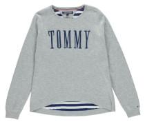 Mädchen Pullover Ame Graphic Sweater, Grau