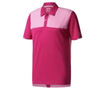 Herren Golfshirt / Poloshirt Climachill Heather Block Competition Polo, Rot