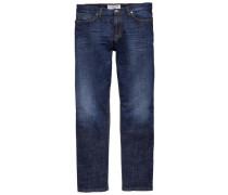 Herren Jeans Pipe Slim Fit, Blau